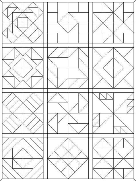 coloring pages quilt blocks   faves barn