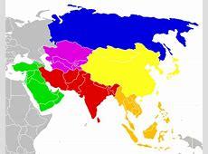 Geografía de Asia límites, costas, grandes conjuntos y