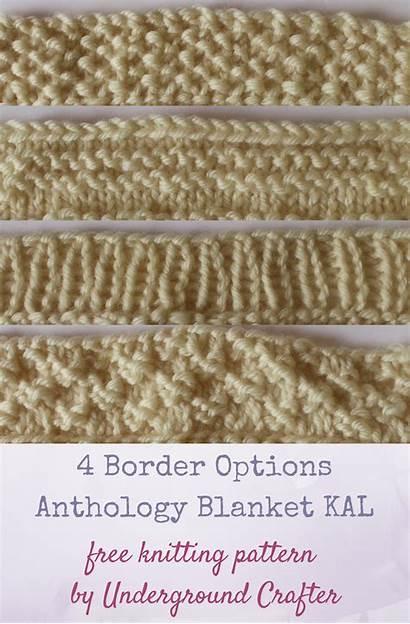 Knitting Blanket Border Patterns Anthology Options Borders