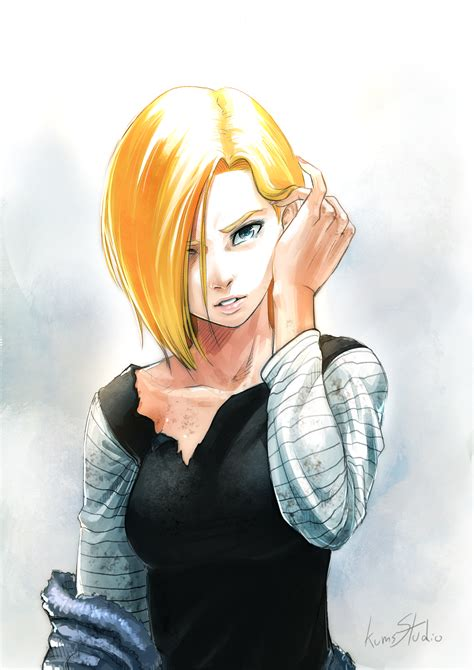 z android 18 android 18 z zerochan anime image board