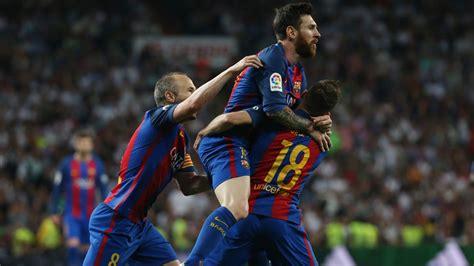 Así acabó retando Messi al Bernabéu tras el 2-3 en el ...