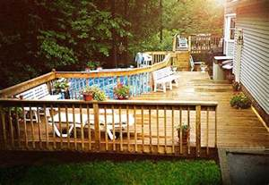 decks around above ground pools pool design ideas pictures
