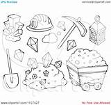 Mining Clipart Mine Items Outlined Gold Illustration Vector Royalty Visekart Coloring Pages Clipartpanda Template Background Powerpoint Templates Terms sketch template