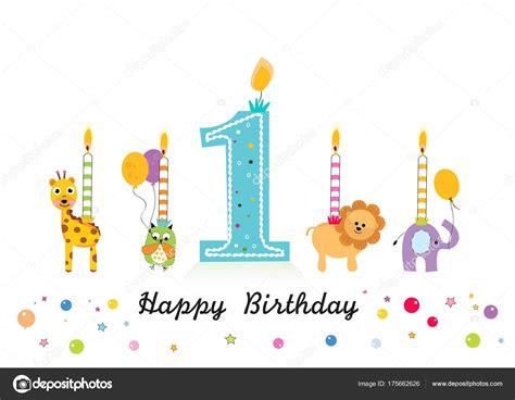 Candele Buon Compleanno by Candela Buon Compleanno Con Gli Animali Primo Compleanno