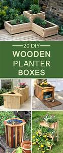 20, Diy, Wooden, Planter, Boxes, For, Your, Yard, Or, Patio