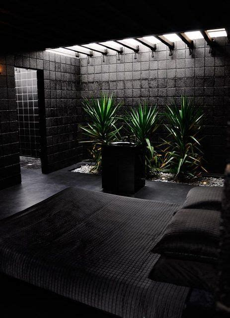 All Black Bedroom by Skylight Gardens The All Black Needs Warmer Feel