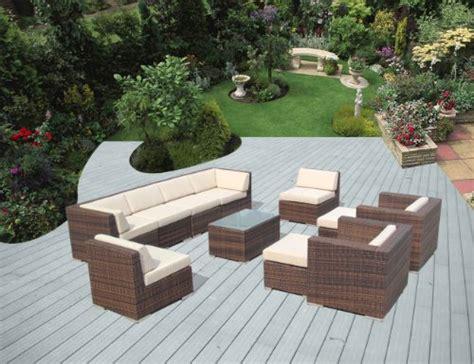 genuine ohana outdoor patio wicker sofa mixed brown