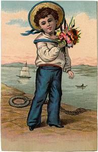 Sweet, Vintage, Sailor, Boy, Picture