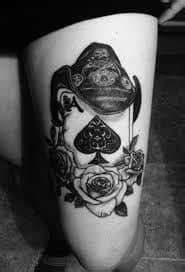 Spade Tattoo Meaning & Ideas | Queen & Ace of Spades Tattoos