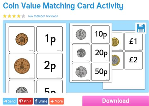 worksheet wednesday coin matching skills numeracy