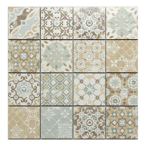 vintage fliesen küche mosaik hph placke 15452 casa patchwork beige 30x30 cm i