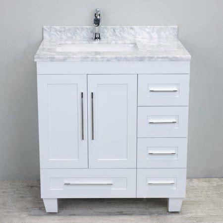 Eviva Loon 30 in Single Sink Bathroom Vanity White