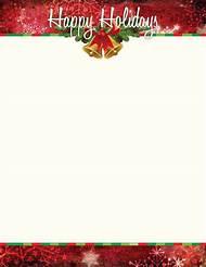 free christmas holiday stationery templates
