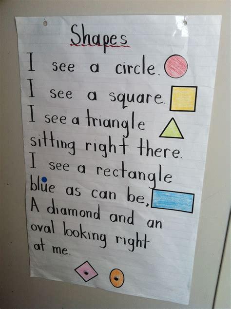 shapes poem change diamond  rhombus math preschool