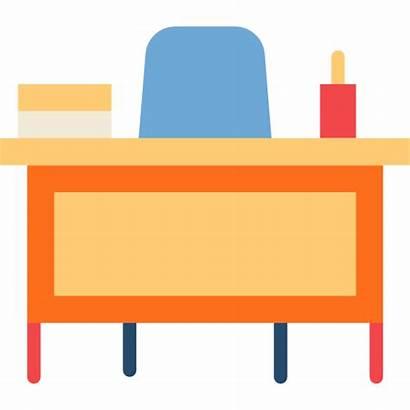 Desk Teacher Icon Classroom Chair Education Icons