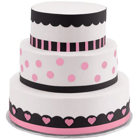 polka dots  hearts  tier cake wilton