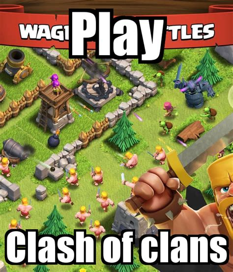 play clash of clans poster firestartimmy keep calm o matic