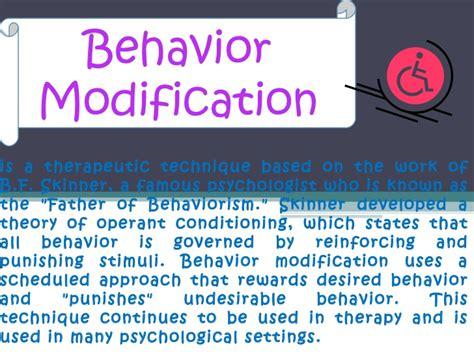Behaviour Modification Chaining by Behavior Modification