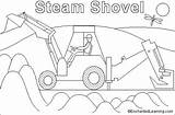 Coloring Shovel Steam Enchantedlearning Pages Steamshovel Paint Selected Teachers Region Tell Shtml Vehicles sketch template