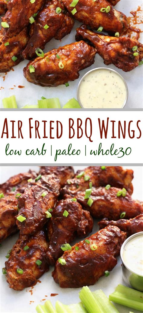 wings air bbq fried carb low whole30 paleo chicken wing fryer whole recipe recipes