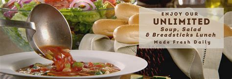 soup and salad olive garden unlimited soup salad and breadsticks lunch for 6 99 at
