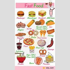 Fast Food List Types Of Fast Food With Pictures  7 E S L