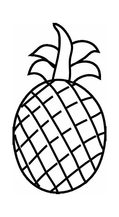 Pages Coloring Fruit Fruits Pineapple Colouring Fresh