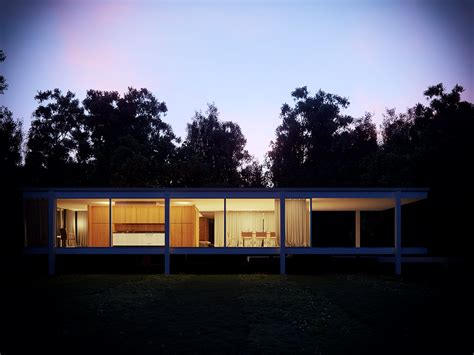 Farnsworth House With Corona Render On Behance