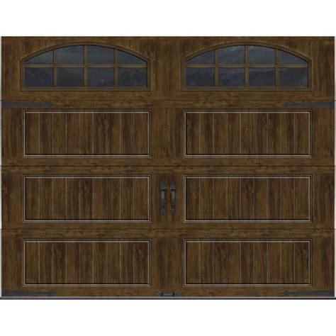 9x7 Garage Door by Ideal Door 174 Designer Oak Walnut Insulated Garage Door With