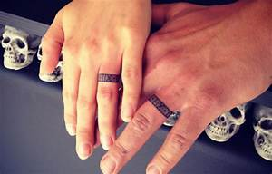 42 wedding ring tattoos that will only appeal to the most With 3d wedding ring tattoos