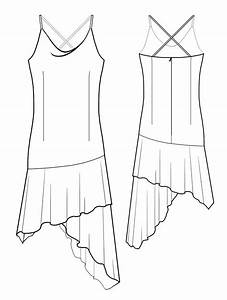 Dress With Handkerchief Hem - Sewing Pattern #5524. Made ...