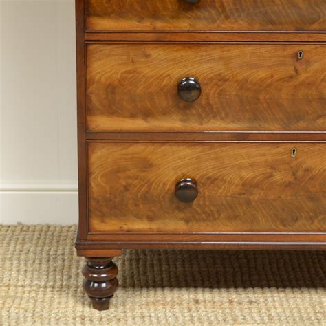 A magnificent tall and impressive antique 19th century mahogany this stunning antique french tall chest, circa 1840 in date, was crafted from the most beautiful flame mahogany with six capacious drawers which have. Rich Mahogany Tall Victorian Antique Chest Of Drawers ...