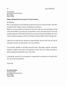 Sample Of Resignation Letter For Health Reason Resume