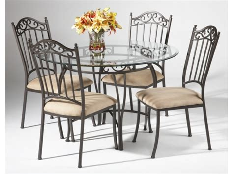 wrought iron and glass dining table table chair set 7 excellent wrought iron glass top