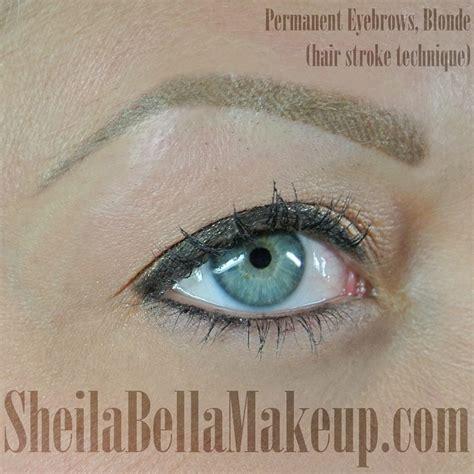 permanent hair stroke brows blonde sheila bella