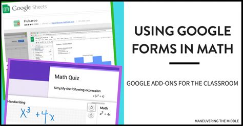 Using Google Forms In Math  Maneuvering The Middle