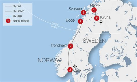 northern lights viewing map the northern lights lapland tour great rail journeys