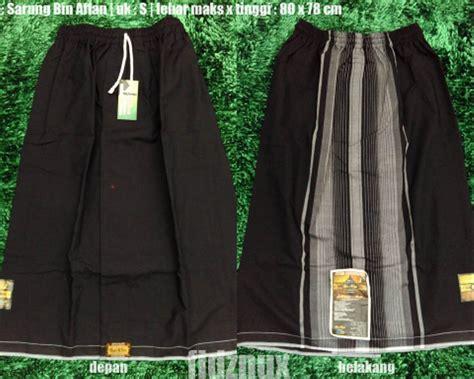 jual sarung celana remaja hitam wadimor bin affan gajah