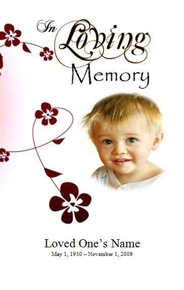 program template funeral order  service  infants