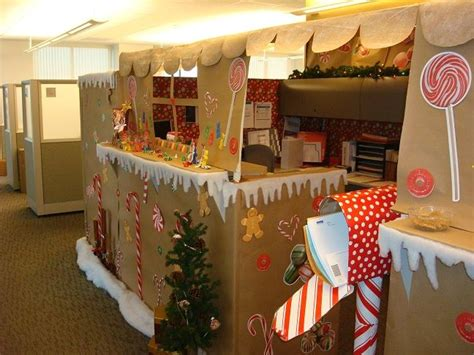 giner bread cubicle christmas decorations our gingerbread house office cubicle yes we won the contest stuff i actually did make