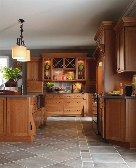 Thomasville Kitchen Cabinets At Home Depot by Cabbott Cherry Macaroon Kitchen By Thomasville Cabinetry