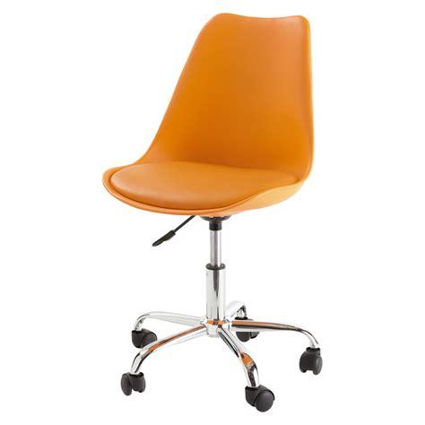 chaise bureau orange chaise de bureau orange bristol maisons du monde