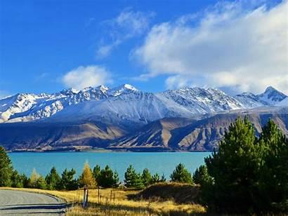 Lake Tekapo Pukaki Desktop Views Mountains Gorgeous