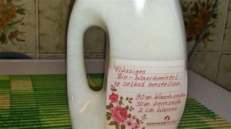 fl 252 ssiges waschmittel selbst herstellen frag mutti
