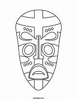 African Mask Printable Masks Coloring Drawing Templates Tribal Template Pages Sheets Drawings Africa Clipart Projects Maskspot Zulu Draw Crafts Print sketch template