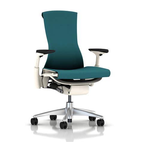herman miller embody chair peacock rhythm with white frame