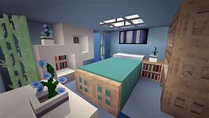 Minecraft Modern Cool Blue Bedroom Design Youtube Intended ...
