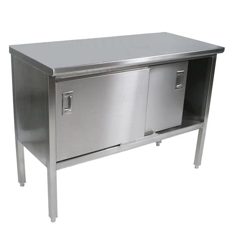 stainless steel work table with two shelves stainless steel enclosed work tables flat top sliding