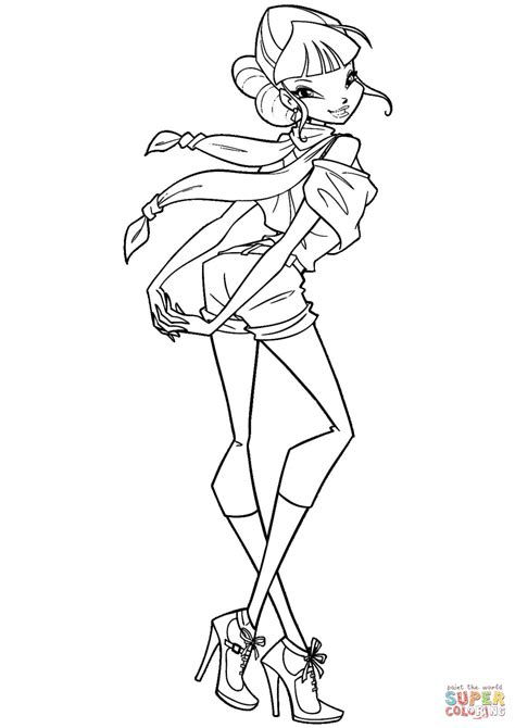 Winx Kleurplaten by Winx Musa Coloring Page Free Printable Coloring Pages