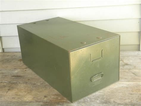 single drawer file cabinet vintage industrial office file cabinet box olive drab